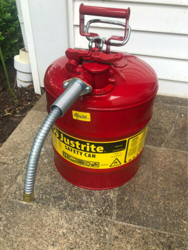 Justrite 7250120 5-Gallon Type II Safety Can with 58 Flexible Hose