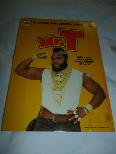 MR. T COLORING BOOK 1984 GOLDEN BOOK VINTAGE UNUSED FULL COLOR POSTER