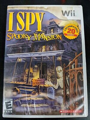 I Spy Spooky Mansion Free Shipping Complete Clean Tested Working Nintendo Wii