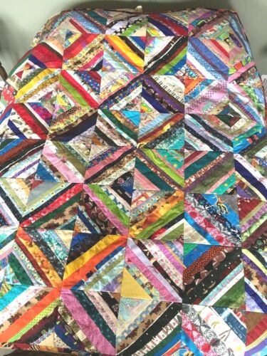 """HANDMADE BOY THEME QUILT. VERY COLORFUL. 62"""" by 73"""""""