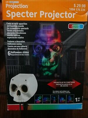 NEW LED Halloween Light Show Projection Projector w Sound by Gemmy