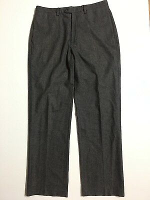 MINT Banana Republic Men 34x33 Straight Charcoal Gray Wool cotton Trousers Pants