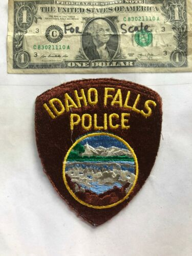 Idaho Falls Police Patch pre-sewn in great shape
