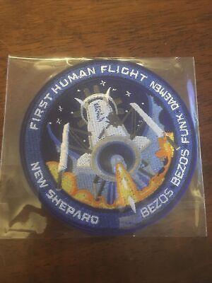 Official Blue Origin First Human Flight Patch