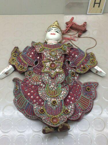 VINTAGE Asian ORIENTAL Marionette Gatekeeper Puppet