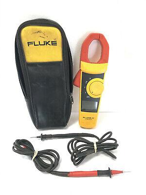 Fluke 333 Digital 400 Amp Ac Clamp Meter Multimeter W Leads Case