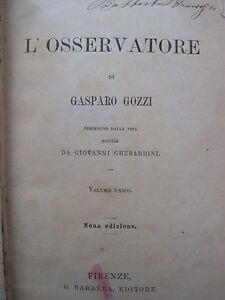1882-Gasparo-Gozzi-L-039-OSSERVATORE-preceduto-dalla-sua-vita-di-Giovanni-Gherardini