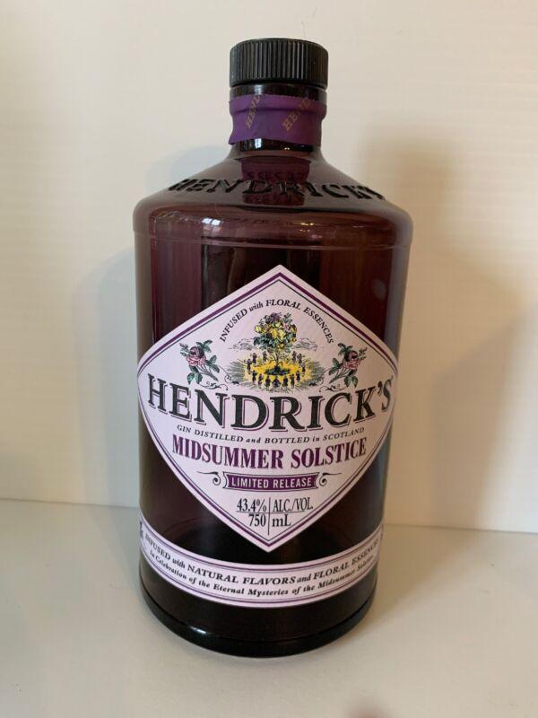 Hendricks Midsummer Solstice Gin Empty Bottle 750mL Purple Limited Release