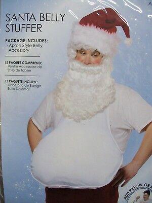Beer Belly Costume (Santa Belly Stuffer Costume Prop Stuffable Apron Fake Beer Pot Gut Pregnant)