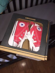 Red baby converse