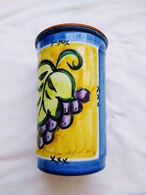 Kitchen Utensil Holder Wine Cooler Crock Jar Grapes  Grapes Wine Holder