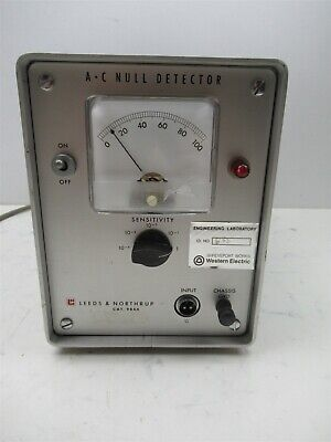 Leeds Northrup 9844 Ac Null Detector Analog Benchtop Portable Lab Device