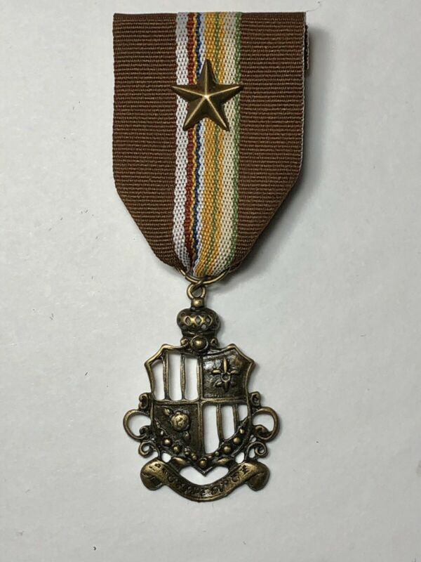 Ribbon Medal Badge Crest Shield Pin Military Inspired Costume Heraldry Handmade