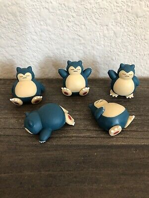 Pokemon Snorlax Mini Figures 5 Piece Set! USA SELLER!