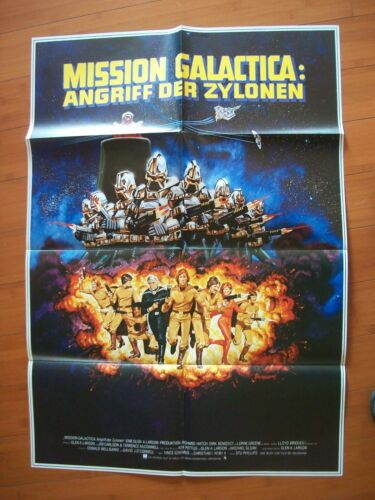 Battlestar Galactica 1979 German Poster Mission Cylon Attack Angriff der Zylonen