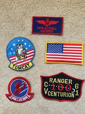 Top Gun Flight Dress Halloween Costume (FANCY DRESS HALLOWEEN COSTUME PROP: Top Gun PETE MITCHELL Flight Suit Patch)