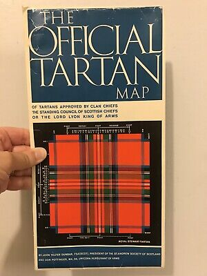 The Official Tartan Map by John Telfar Dunbar Tartan Scottish Cloth