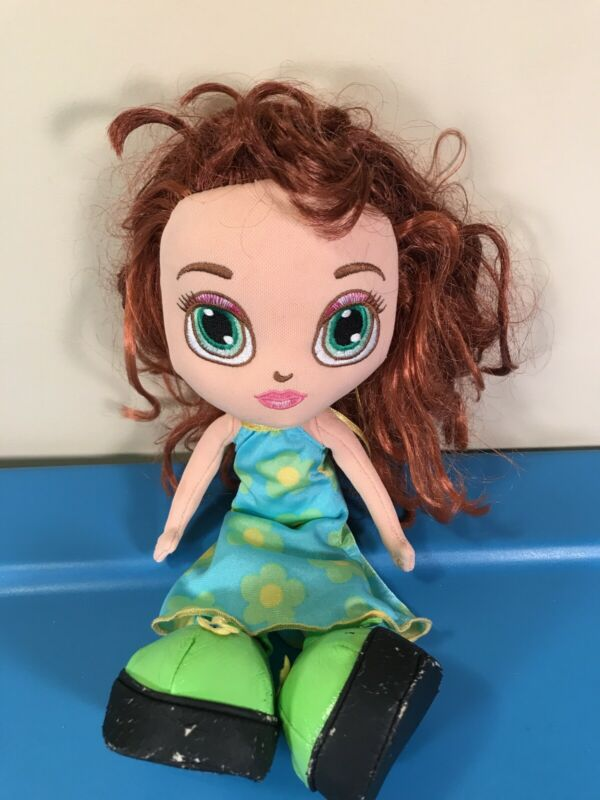 "Vintage Diva Starz Soft & Huggable Plush Cloth Doll 11"" Summer Dress Mattel 2001"