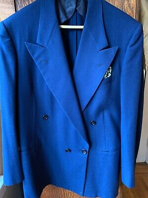 1940's blazer mens double breasted costume gangster](1940 Gangster Costume)