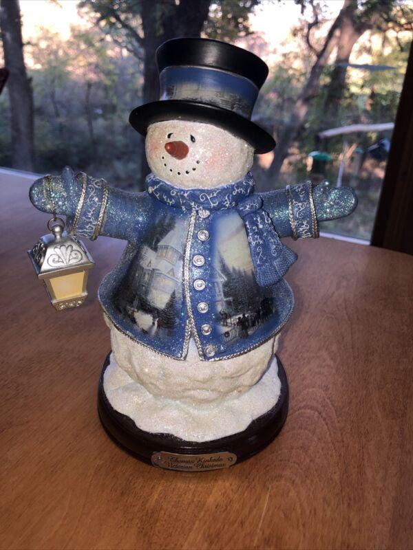 THOMAS KINCAID WINTER WONDERLAND Victorian Christmas Snowman (2004) Bradford 1st