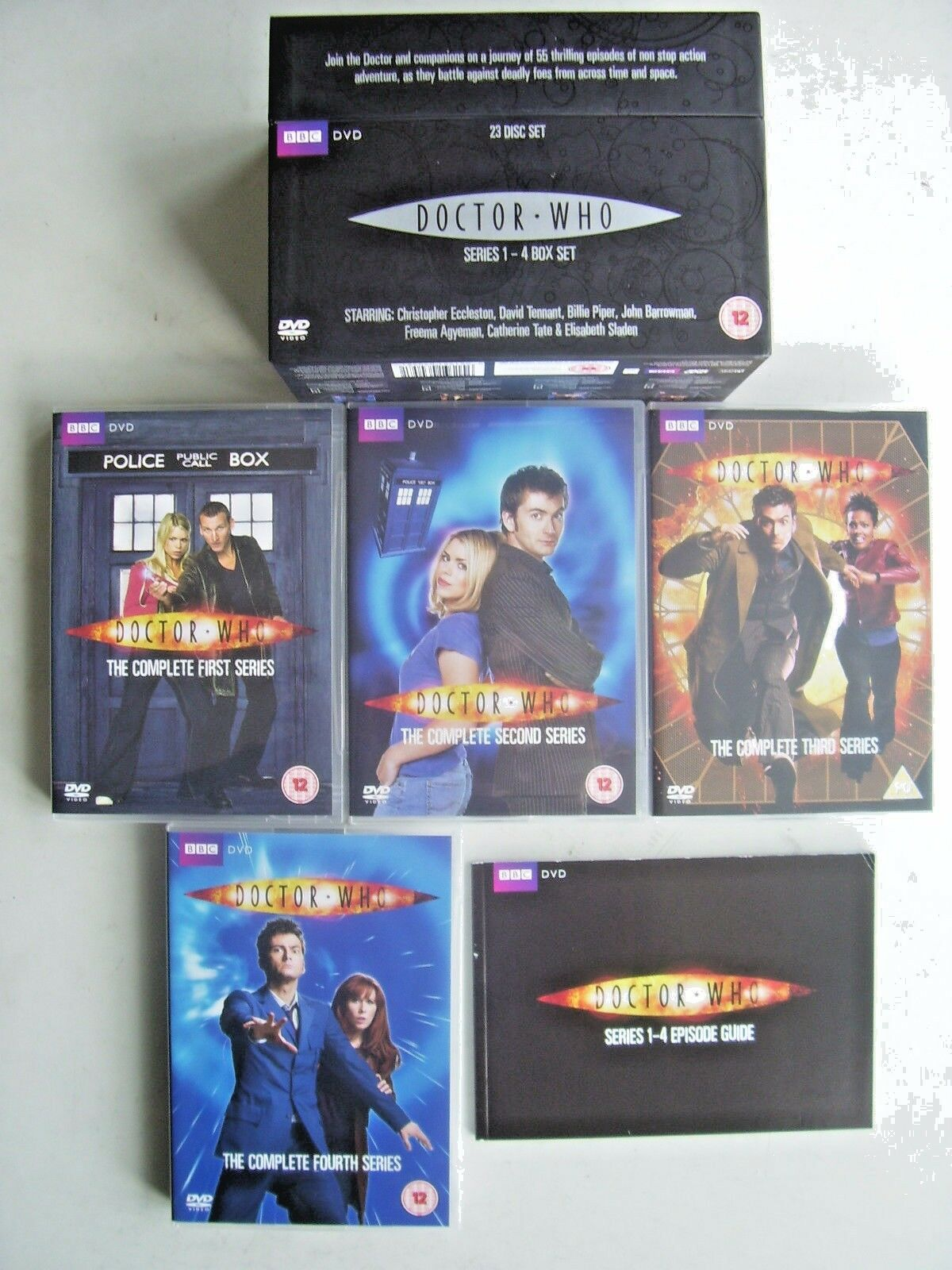 Doctor Who - Series 1-4 - Complete (DVD, 2009, 23-Disc Set, Box Set)