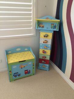 3 set boy room, Toy box drawer and hanger