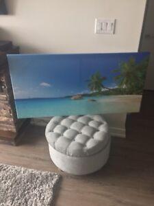 Brand new beach landscape canvas painting