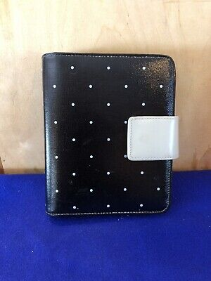 Franklin Covey Black Tan Polka Dot Synthetic Compact Planner 6-ring Binder