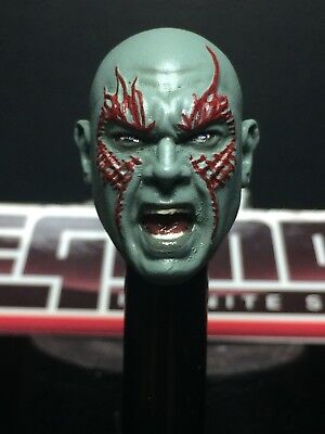 MARVEL SELECT PAINTED/FITTED MCU G.O.T.G.YELLING DRAX HEAD CAST FOR 7IN FIGURE