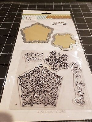 Die Stamped Lines (Richard Garay Silver and Gold collection stamp / die set - Silver Lining )