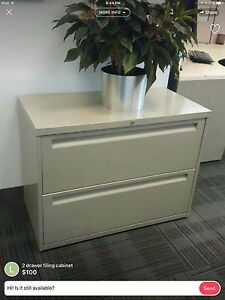 Small 2 drawer filing cabinet