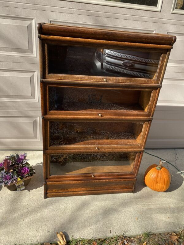 globe wernicke oak antique bookcases