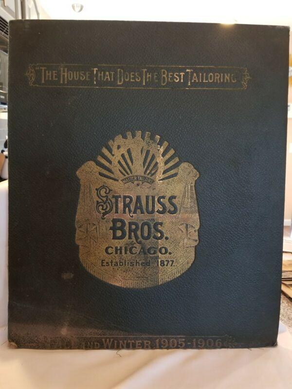 RARE: Strauss Bros. Chicago Cover Salesman sample catalog Fall-Winter 1905-1906