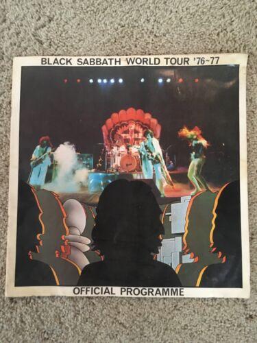 BLACK SABBATH 1976-77 Tour Concert Program Book