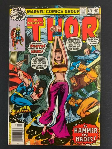 THOR #279 *HIGH GRADE!* (MARVEL, 1979) BONDAGE COVER!!  LOTS OF PICS!!