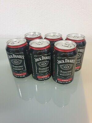 6 Dosen Jack Daniels & Cola 0,33 ltr. 10% Vol. incl. EW Pfand inkl. Bauchtasche