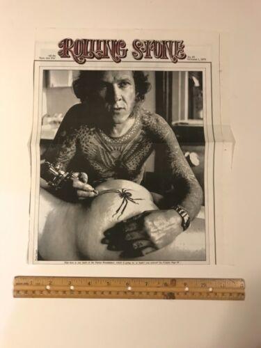 Antique vintage tattoo Rolling Stone Lyle Tuttle 1970