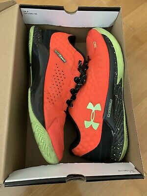 Under Armour Curry 1 Low Mens Sz 13 Orange Black Athletic Basketball Shoes