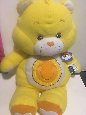 Bear Cuddle Pillow - NWT CARE BEARS FUNSHINE Bear Cuddle Pillow Plush 28
