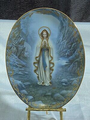 Hector Garrido Our Lady of Lourdes Bradford Exchange Collector Plate Virgin Mary