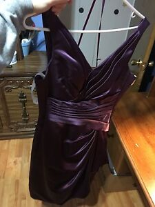 Dark purple grad dress
