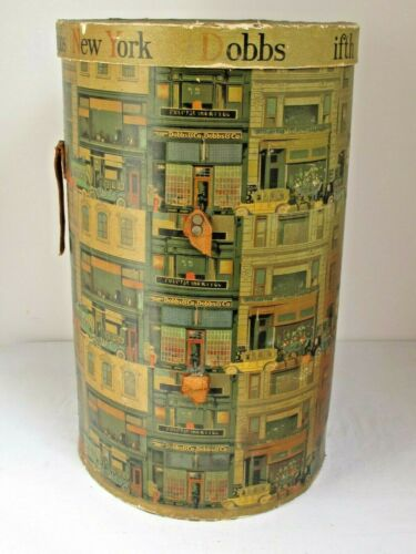 Vintage Dobbs Fifth Avenue New York Tall Hat Box 21 1/2""