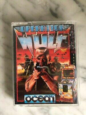 Retro Commodore 64 C64 / 128 OPERATION WOLF Arcade Coin-Op Game tape TAITO OCEAN