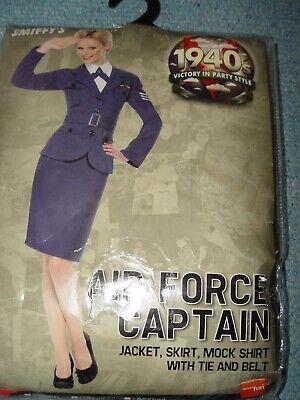 Ladies Air Force Captain Fancy Dress Outfit Size M 12-14