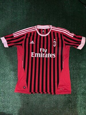 ADIDAS Mens Medium AC Milan Soccer Jersey Red XL