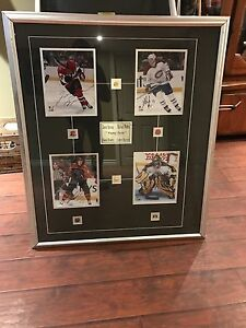 Signed framed hockey picture