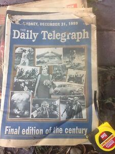 VINTAGE NEWSPAPERS. LAST DAY 1999 1st day 2000 etc