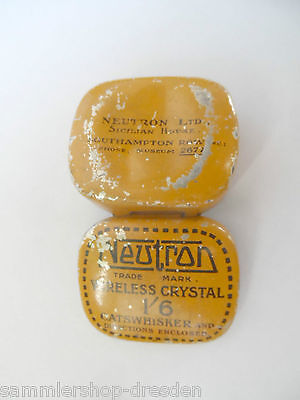 23897 Blechdose Dose Blech Kristall Neutron wireless Crystal southhampton GB