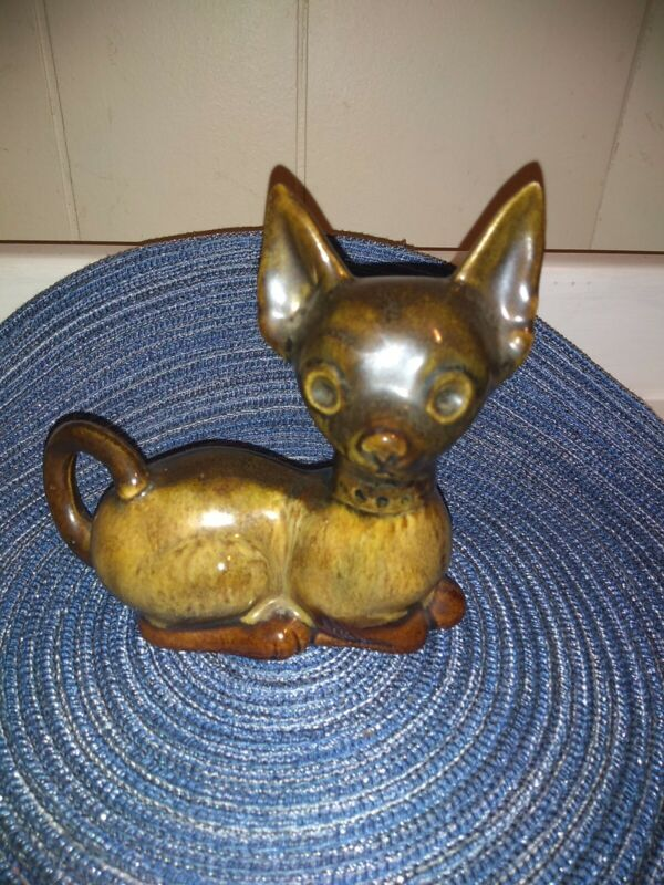 Elwill Canadian Pottery Chihuahua Dog  signed and numbered (1953-84)