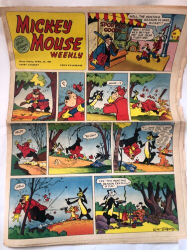 Walt Disney Mickey Mouse Weekly April 24, 1954 Very Rare